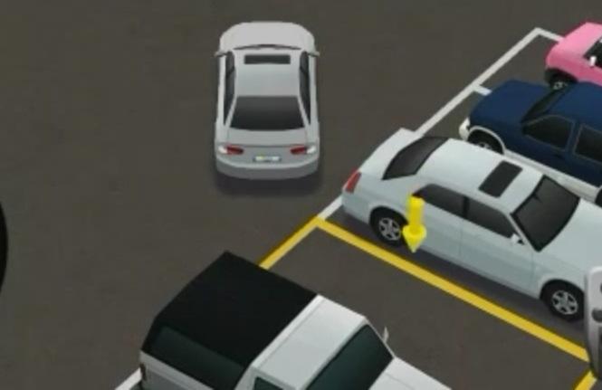 Parcheggio a L in retromarcia
